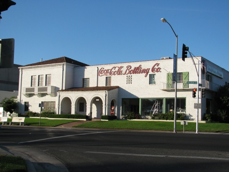 The Coca Cola bottling plant in the Med Center, Sacramento.