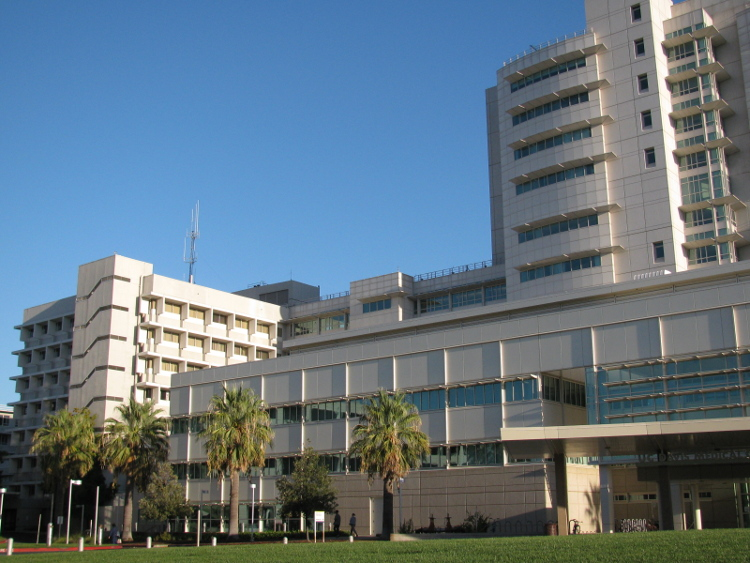 The UC Davis Med Center, adjacent to the Med Center neighborhood in Sacramento's downtown core.