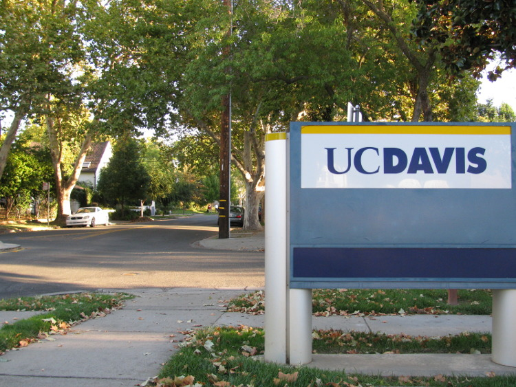 The UC Davis sign at the UCD Med Center in Sacramento