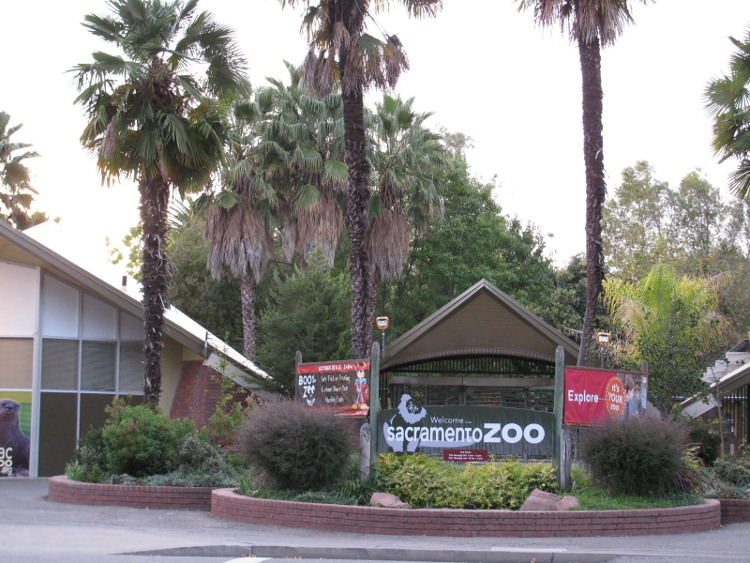 The entrance to the Sacramento Zoo in Land Park.