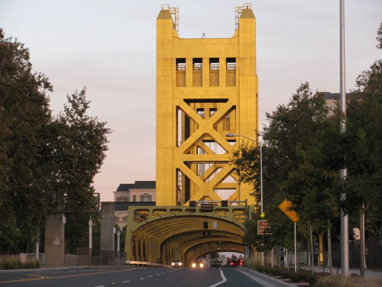 Tower Bridge, the gateway to Downtown Sacramento.